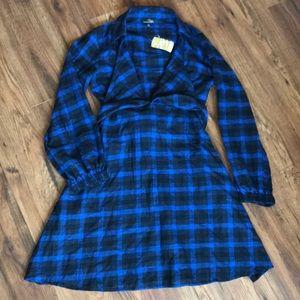 Blue flannel dress
